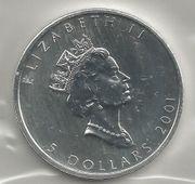 5 Dollar Silbermünze Kanada 2001