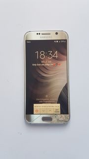 Samsung Galaxy S6 Gold Glassprung