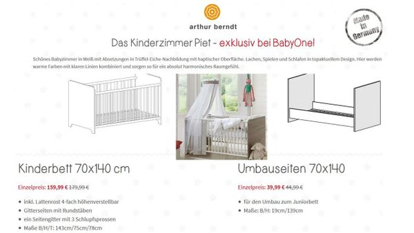 Kinderbett 70 x 140 cm