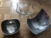 3 Schallen Gefäße Dekoration Obstschallen