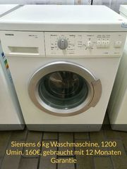 Siemens Waschmaschine 6kg 1200 Umin
