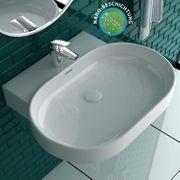 Nano-Beschichtung Ovales Waschbecken mit Befestigungsset