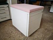 Rollcontainer mit Schubladen Sitzkissen Bürocontainer