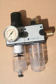 Riegler Druckluft Wartungseinheit Wasserabscheider Druckminderer