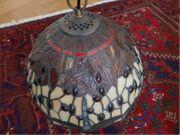 Sehr dekorative Tiffany-Hängelampe mit Libellenmotiv