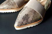 Kennel Schmenger Sandale Optik Schlangenleder