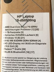 hp Notebook 15-db0500ng Neu originalverpackt