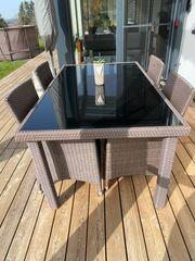 Set Gartenmöbel- 6 Stühle und