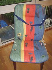 6 Stuhlauflagen für Gartenstühle bunt