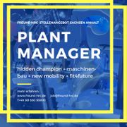 PLANT MANAGER a g