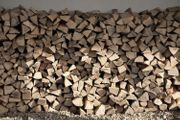Fichten und Buchen Brennholz