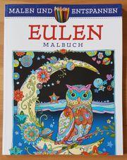 Buch Malbuch mit Eulen Tandem