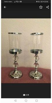 Kerzenständer 2x Kettenhalter spiegeltablett Neu