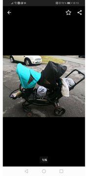 Kinderwagen geschwisterwagen Zwillingswagen Wagen abc