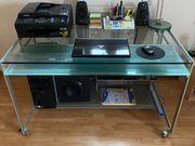 PC Schreibtisch aus Glas