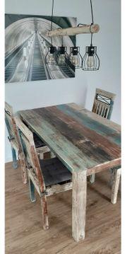 Esstischgruppe Esszimmer-Tisch 4 Stühle