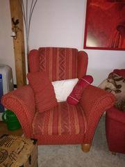 Sessel mit 2 Hockern
