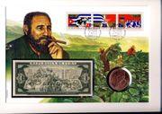 Kuba Cuba Fidel Castro Münzbrief