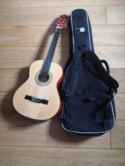 Gitarre 3 4 mit Tasche