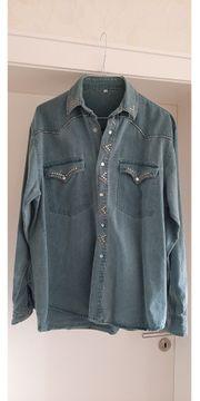 Jeanshemden für Damen hellblau und