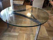 Runder Glastisch Original 60iger