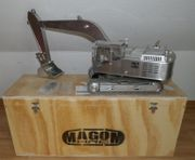 Hydraulikbagger Tieflöffel aus Metall Maßstab
