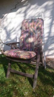 5 große Gartenstühle mit Armlehnen