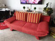 Schöne rote Couch Sofa