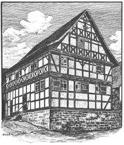 Altes Fachwerkhaus im östl Großraum