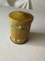Tee Antike Dose in Holzoptik