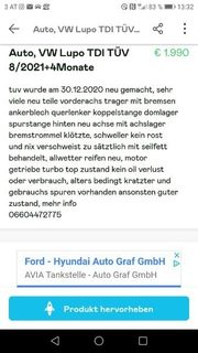 VW LUPO TDI TÜV 8
