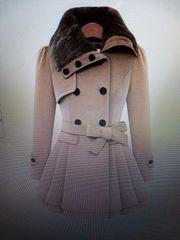 Baijiaye Damen Mantel Zweireiher