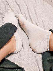 Socken Unterwäsche und Fußbilder