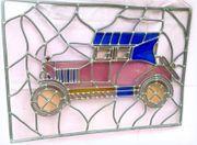 Bleiglas Bleiverglasung Fensterbild Oldtimer