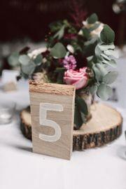 Tischnummern Holz 1-10 Hochzeit Hochzeitsdeko