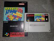 SNES Tetris Attack mit Anleitung