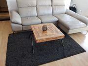 Leder couch inkl holztisch