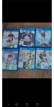 PS4 Spiele 6 Stk je