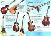 suche 60er E-Guitar Bass Höfner