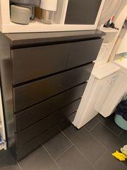 Malm Kommode schwarz Ikea