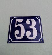 Alte Emaille Hausnummer zu verkaufen