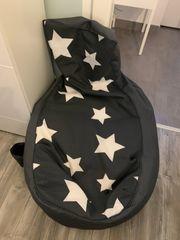 Sitzsack Grau mit Sternen