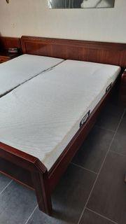 Mahagoni Doppelbett Hülsta für Selbstabholer