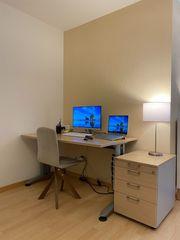 Schreibtisch mit Rollcontainer Bürotisch Homeoffice