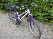 Mädchen-Fahrrad 26 Zoll Pegasus blau-lila