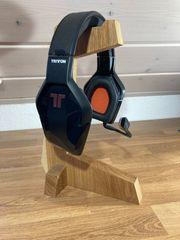Kopfhöhrer Headset Ständer aus Holz