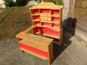 Kinder-Kaufladen aus Fichtenholz groß und