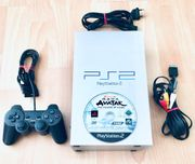 Sony Playstation PS2 inklusive kabeln