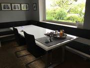 Tisch Esstisch Massivholztisch Buche Edelstahfüsse