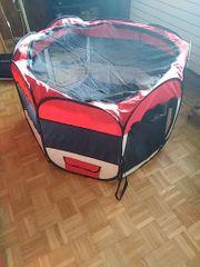 Tierlaufstall rot mit Tasche Schlaflager